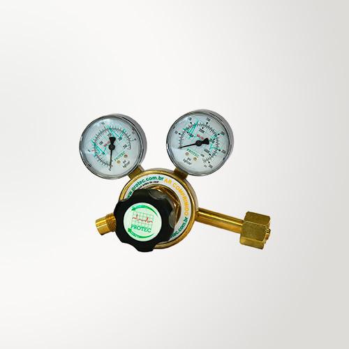Válvula Para Cilindro De Ar Comprimido Com 2 Manômetros